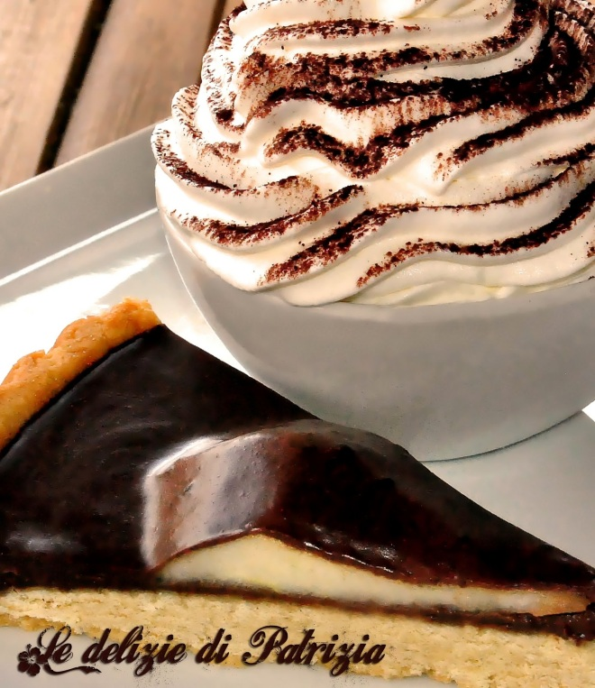 Crostata cioccolato, pera e rhum