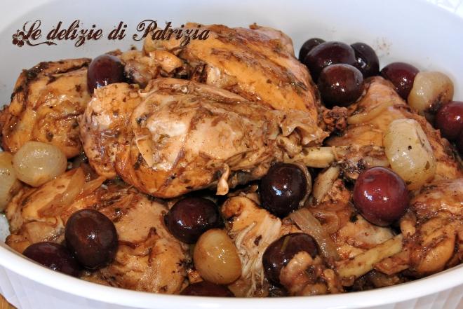 Pollo alla cacciatora con olive e cipolline