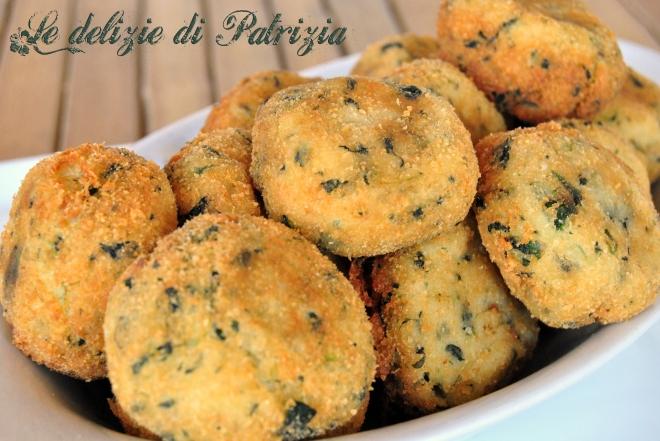 Crocchette di patate porri e spinaci