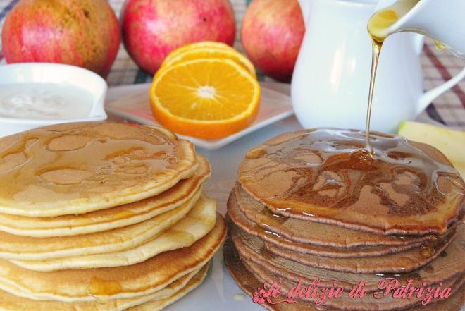 Pancakes vaniglia e cacao