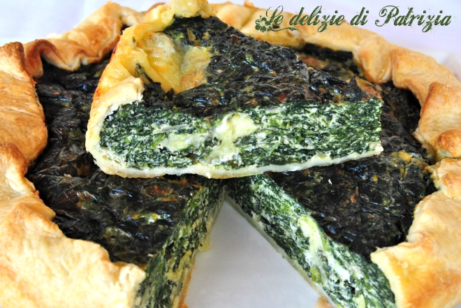 Quiche di spinaci e mozzarella