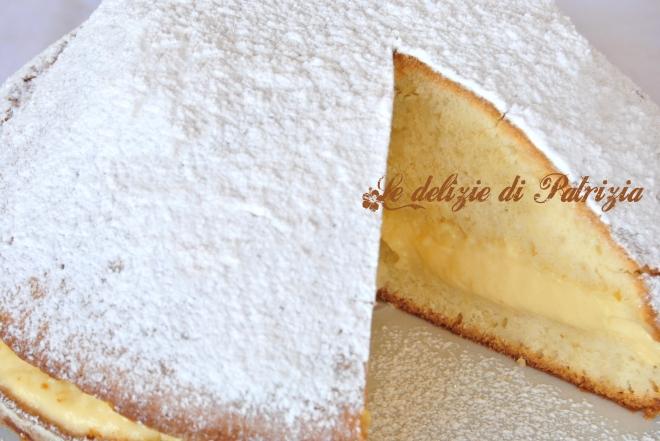 Torta al limoncello e crema pasticcera