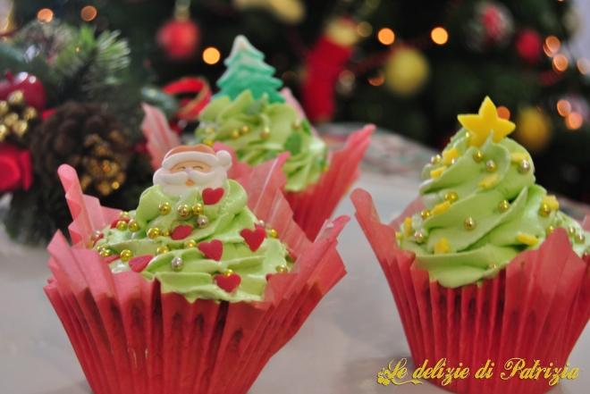Cupcakes Natalizi al pistacchio