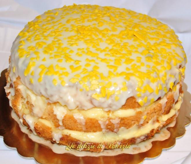 Chiffon con crema pasticcera e glassa al limone ©Le delizie di Patrizia Gabriella Scioni Ph.
