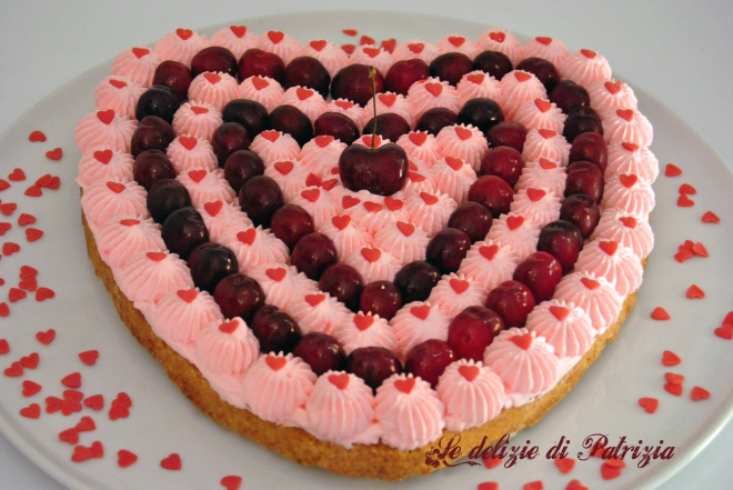 Crostata con panna e ciliegie  ©Le delizie di Patrizia Gabriella Scioni