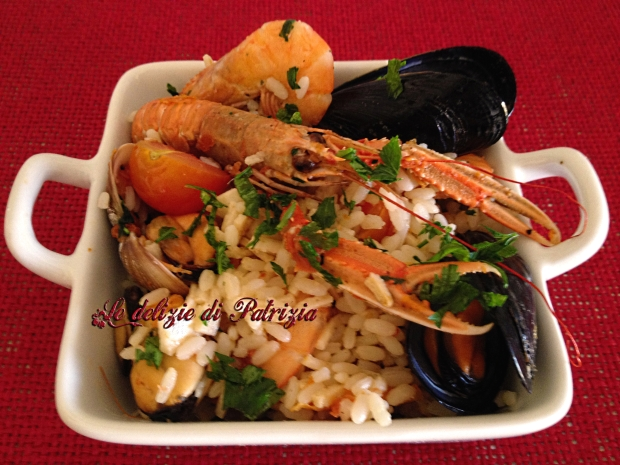 Insalata di riso ai frutti di mare ©Le delizie di Patrizia Gabriella Scioni