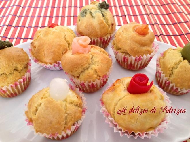 Mini muffin salati vari gusti  ©Le delizie di Patrizia Gabriella Scioni