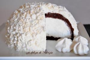 Zuccotto al cacao con fior di latte e meringhe ©Le delizie di Patrizia Gabriella Scioni