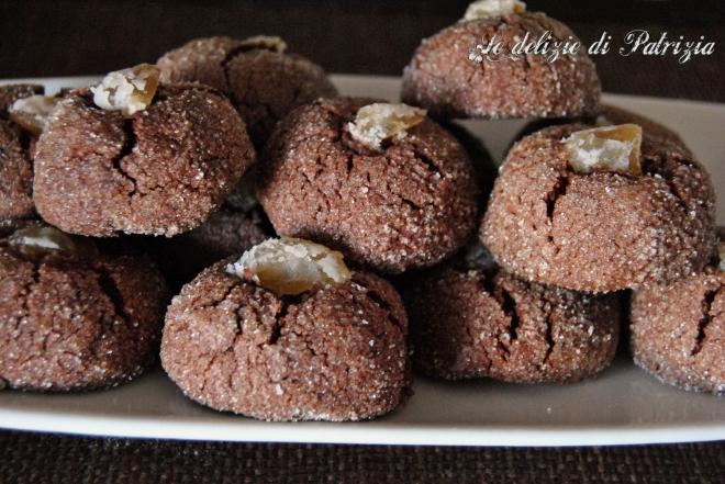 Biscotti teneri con cacao e farina di castagne