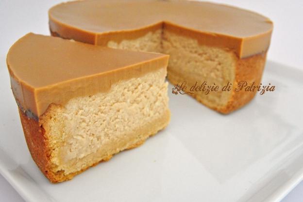 Crostata con crema di ricotta al caramello