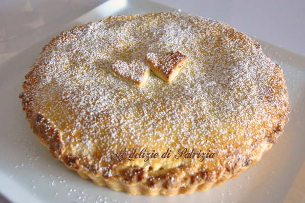 Crostata con crema pasticcera al caffè