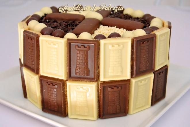 Torta cacao e arancia con chantilly al cioccolato
