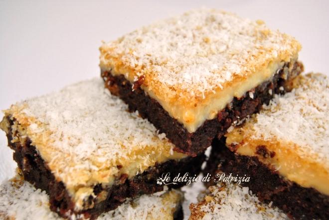 Brownies con latte condensato e cocco