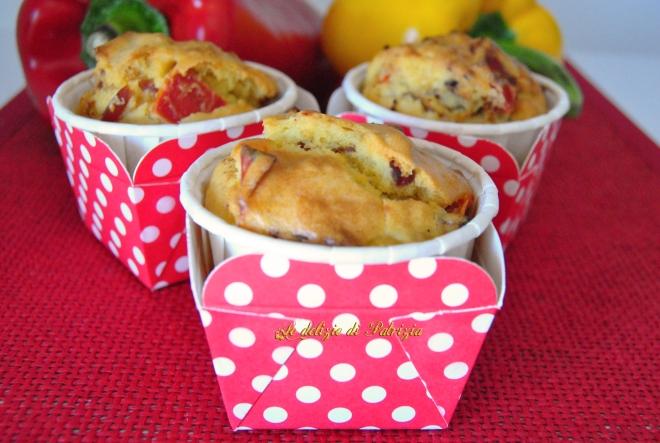 Muffins con speck e peperoni (senza lattosio)