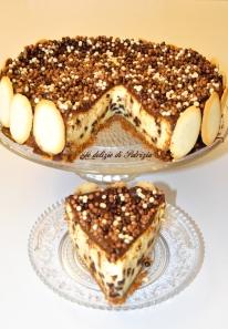 Cheese cake al forno con gocce di cioccolato