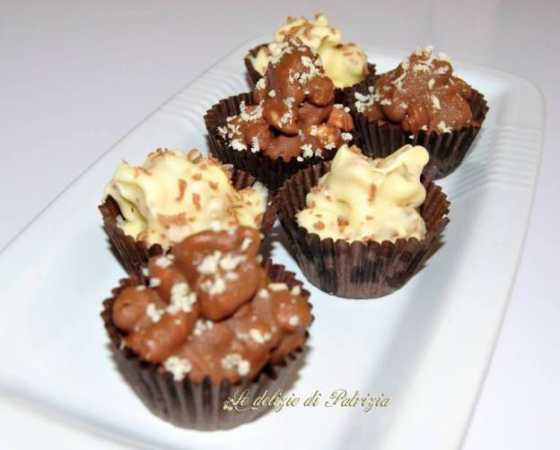 Dolcini di cioccolato e riso soffiato