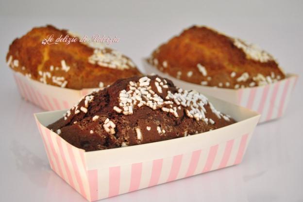 Mini plumcake vaniglia e cacao
