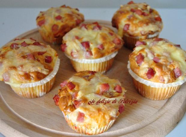 Muffins al prosciutto e formaggio