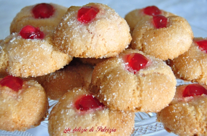 Amaretti all'alchermes