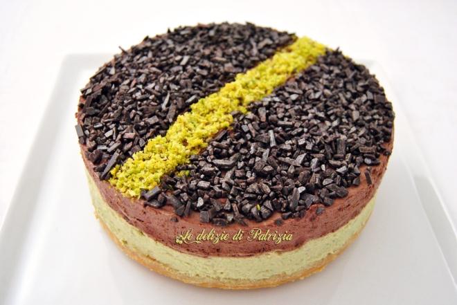 Cheesecake al mascarpone con pistacchio e cacao