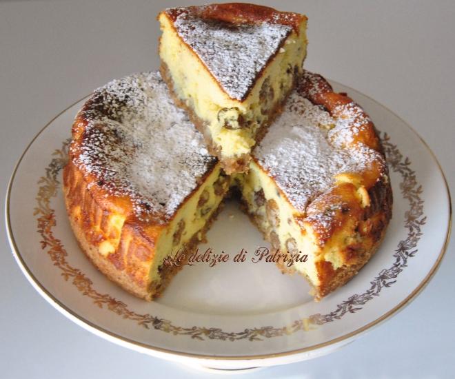 Cheesecake di ricotta e uvetta (al forno)