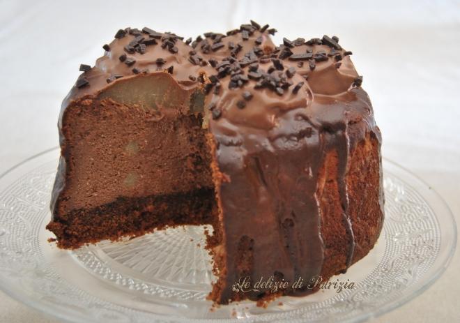 Cheesecake al cioccolato con ricotta e pere_02