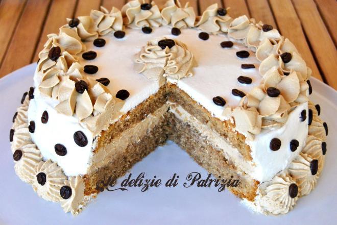 Moka cake con ganache al caffè