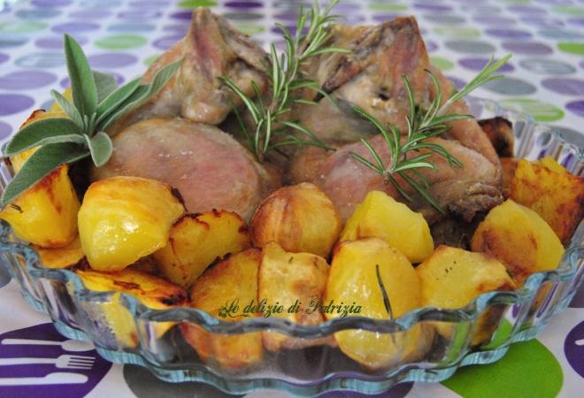 Pollo al forno con patate novelle
