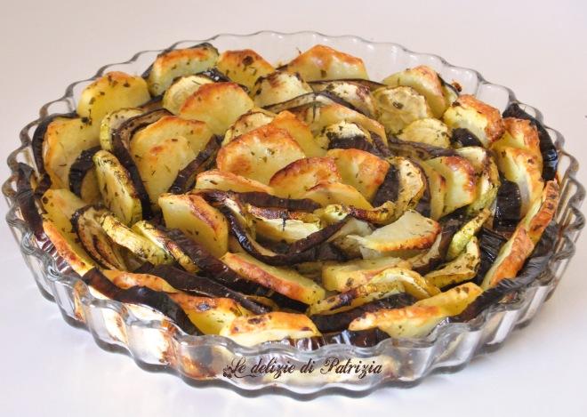 Tris di verdure al forno