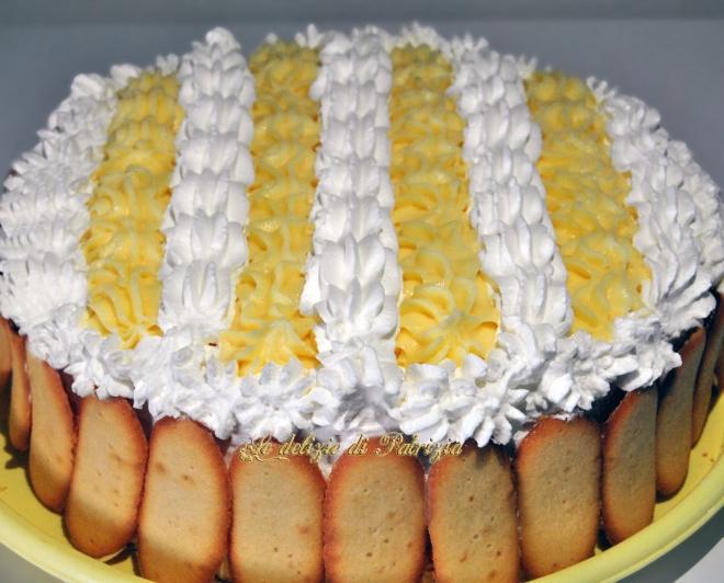 Torta al limone con crema pasticcera